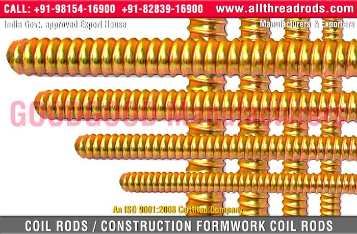 coil rods - tie rods manufacturers exporters india